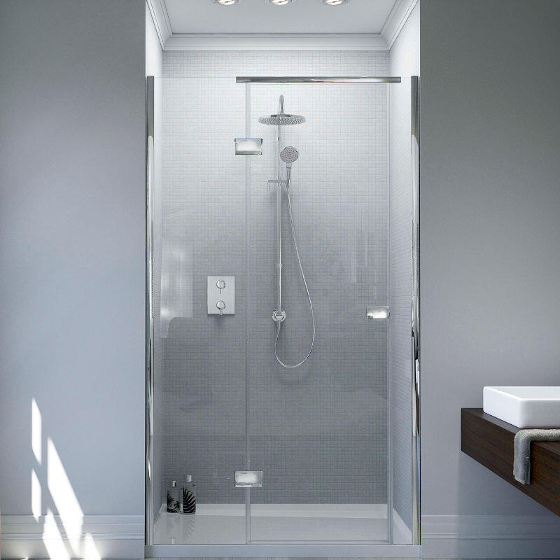 Illusion Shower Door with Tray - Left Hand Hinge