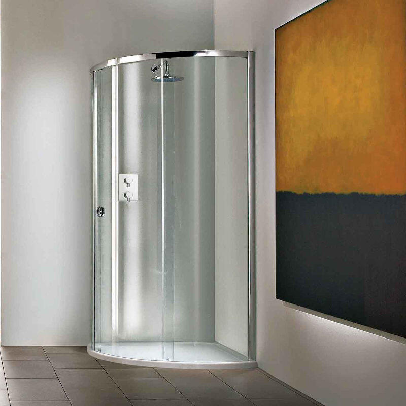 Curved Shower Enclosure with Tray - Left Hand Opening