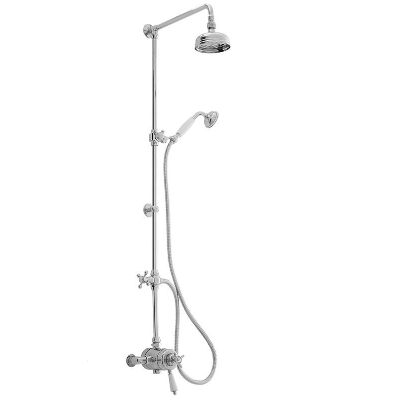 Avenbury Exposed Shower with Deluxe Fixed Riser Kit & Divert