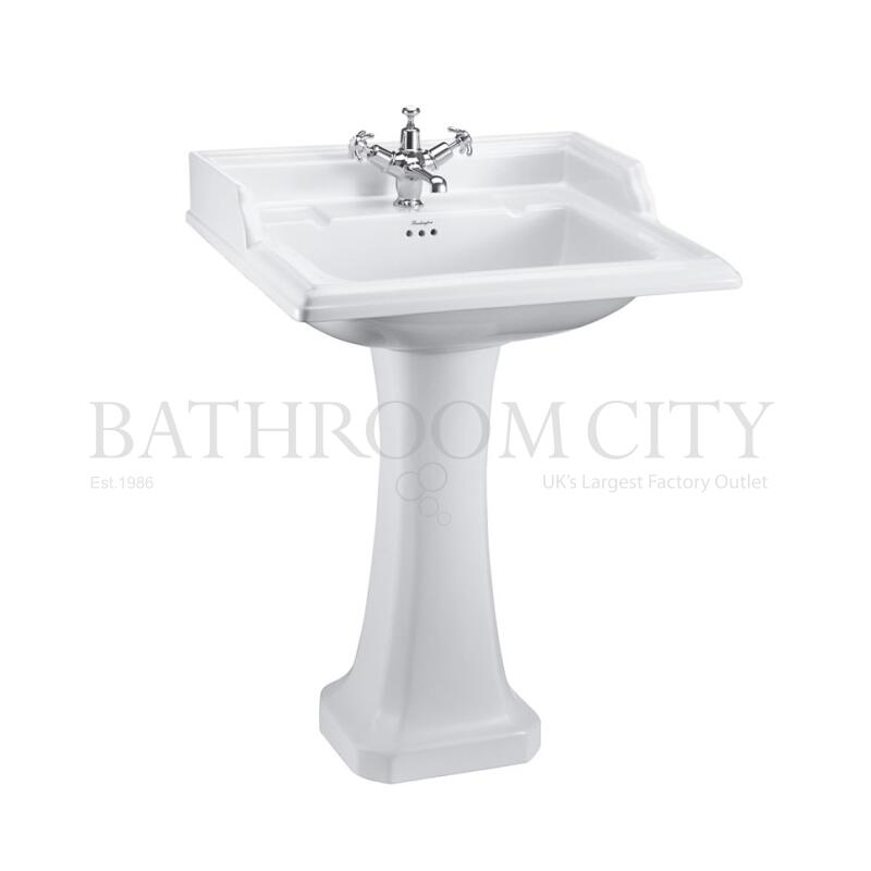 Classic 650 Rectangular basin and Standard Pedestal 1TH
