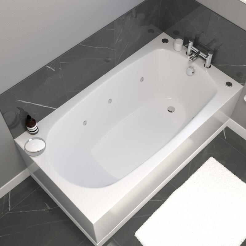Whirlpool Bath: 6 Jets (3 either side)