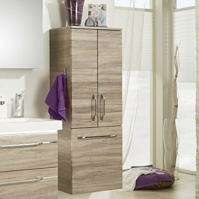 Balto Wall Hung Double Bathroom Storage Unit 2 Doors with Laundry Tilt