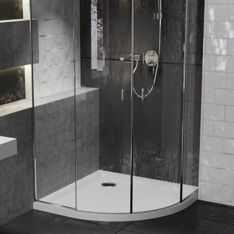 Quadrant 800x800 Easy Plumb Shower Tray with Legs & Plinth