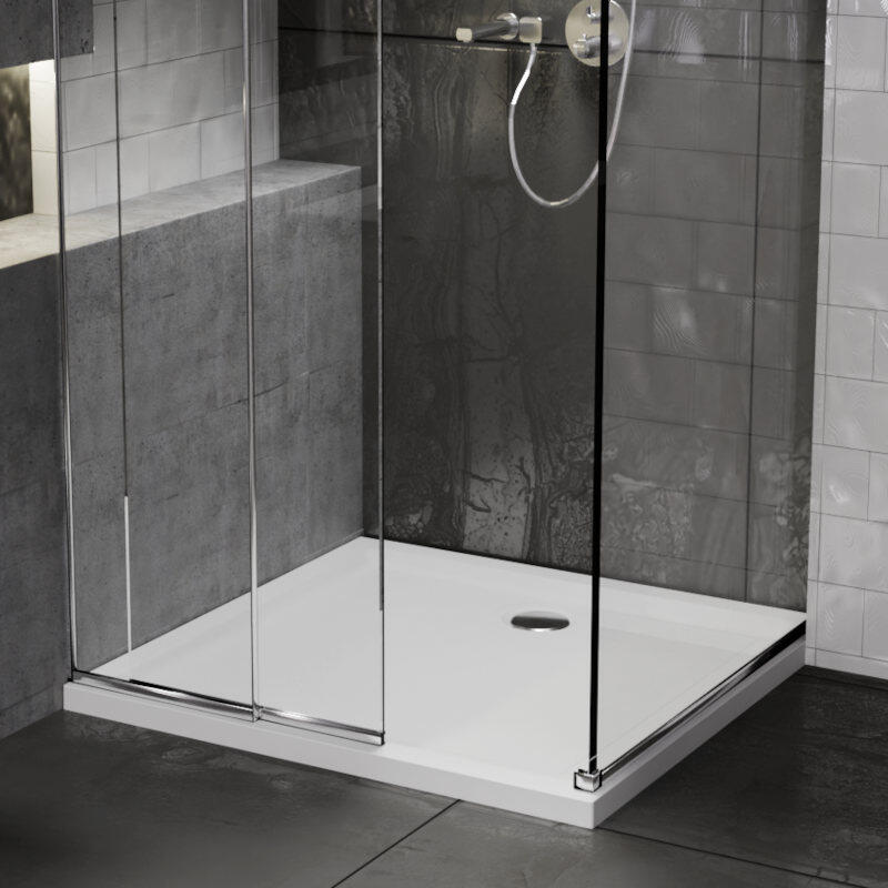 Square 700x700 Stone Resin Shower Tray