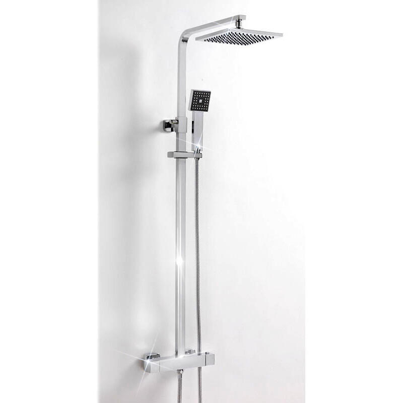 BC SQUARE DELUXE THERMOSTATIC SHOWER AND RISER SET