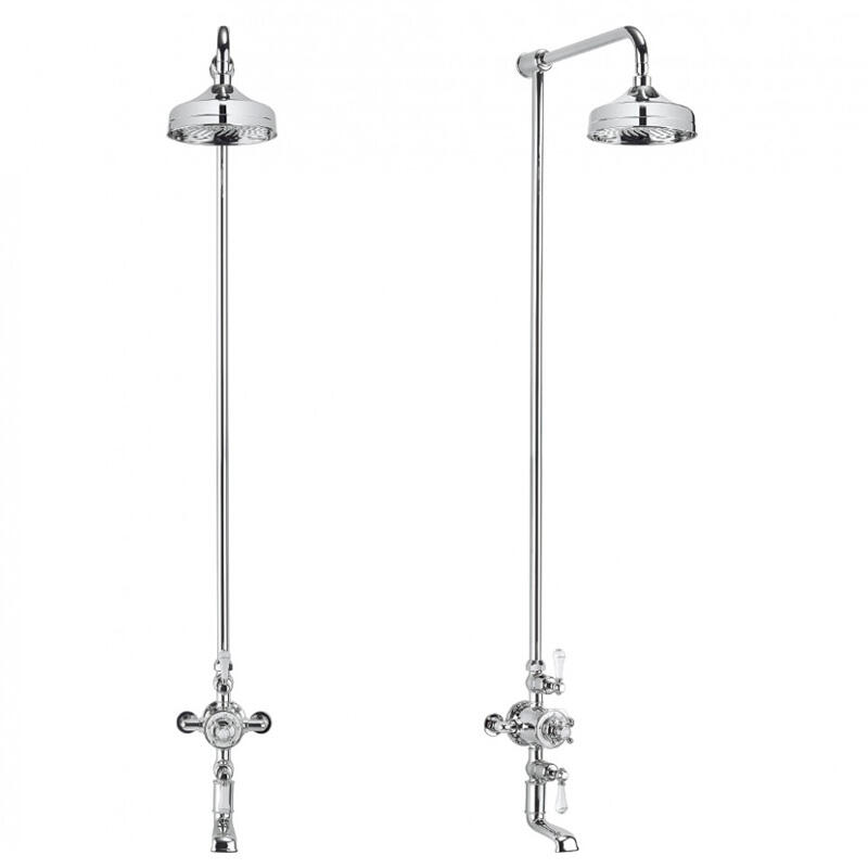 Belgravia Exposed Thermostatic Shower Valve with 8
