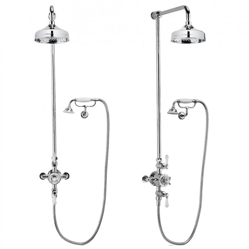 Belgravia Multifunction Shower Valve with cradle handset and bracket and 12