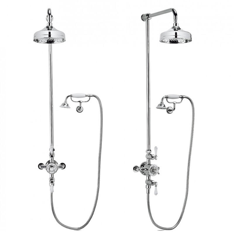 Belgravia Multifunction Shower Valve with cradle handset and bracket and 8