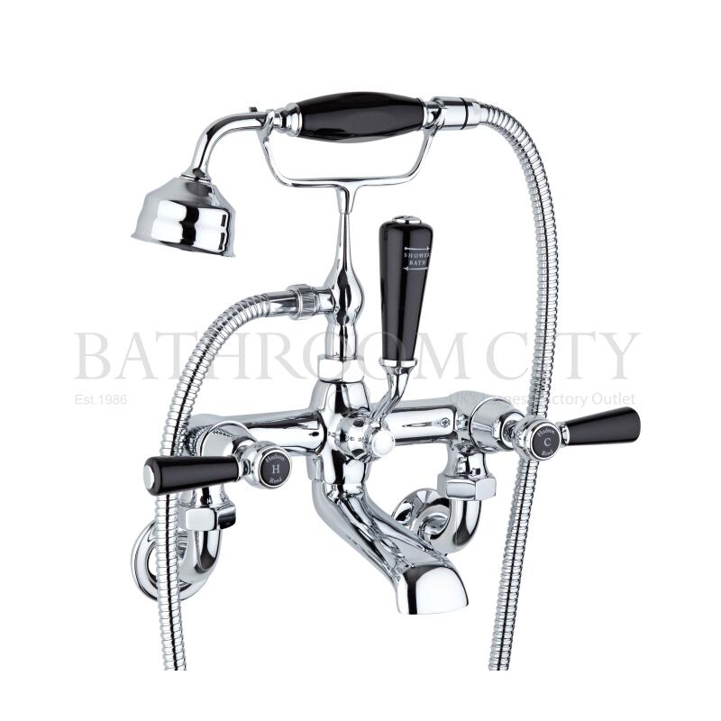 Black Topaz with lever Wall Mounted Bath Shower Mixer
