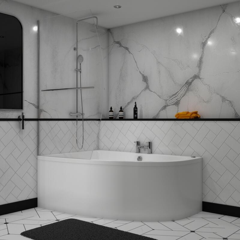 Clia Corner Bath: Includes Front Panel