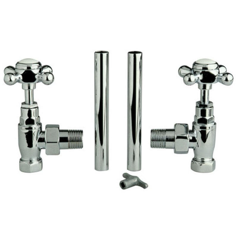Cross Head HT300 Chrome Radiator Valves [Pair]