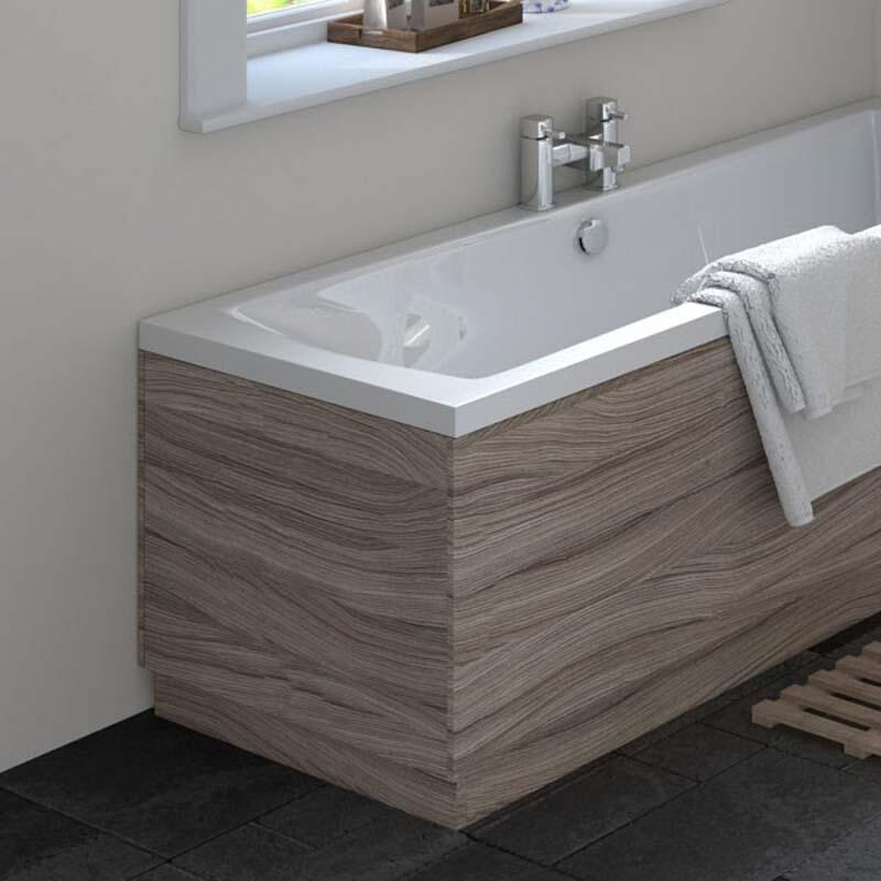 Driftwood Straight Bath End Panel & Plinth 750