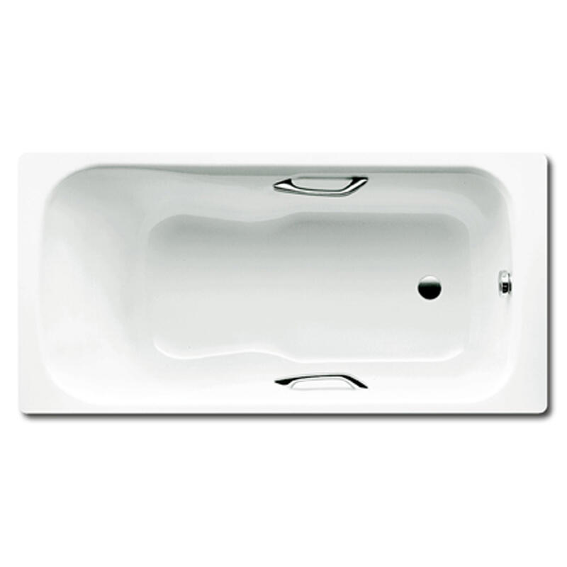 Dyna Set Star Bath with Grips: 1600 x 700mm, No Tap Holes