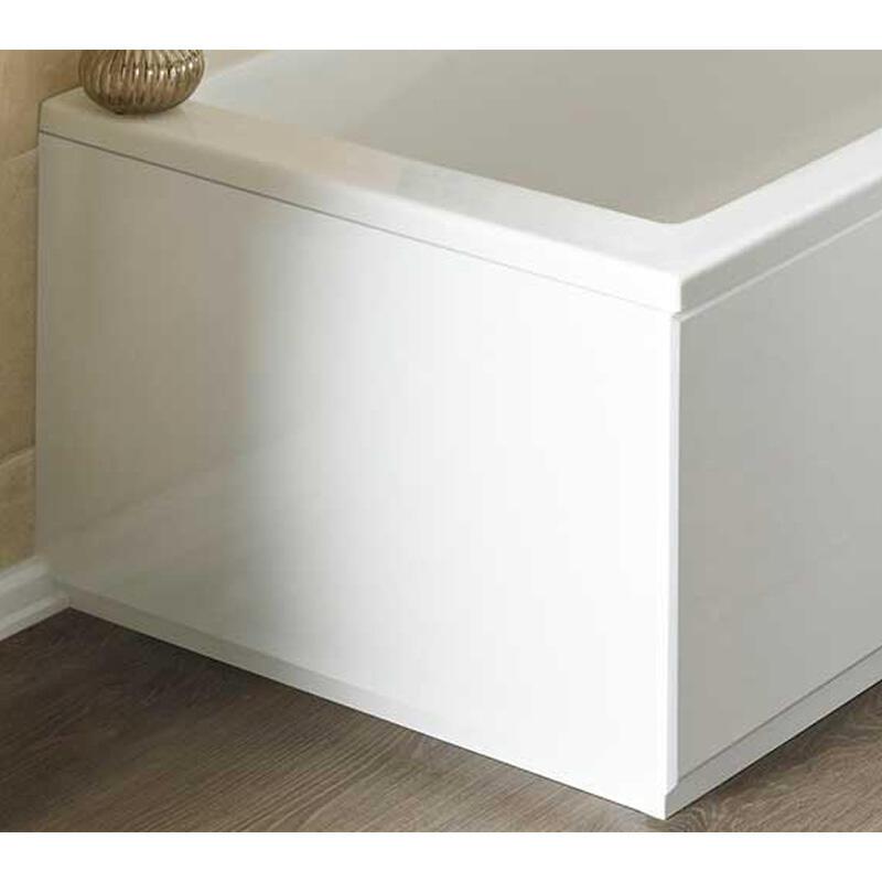 NEW ECCO WHITE BATH END PANEL (700MM)