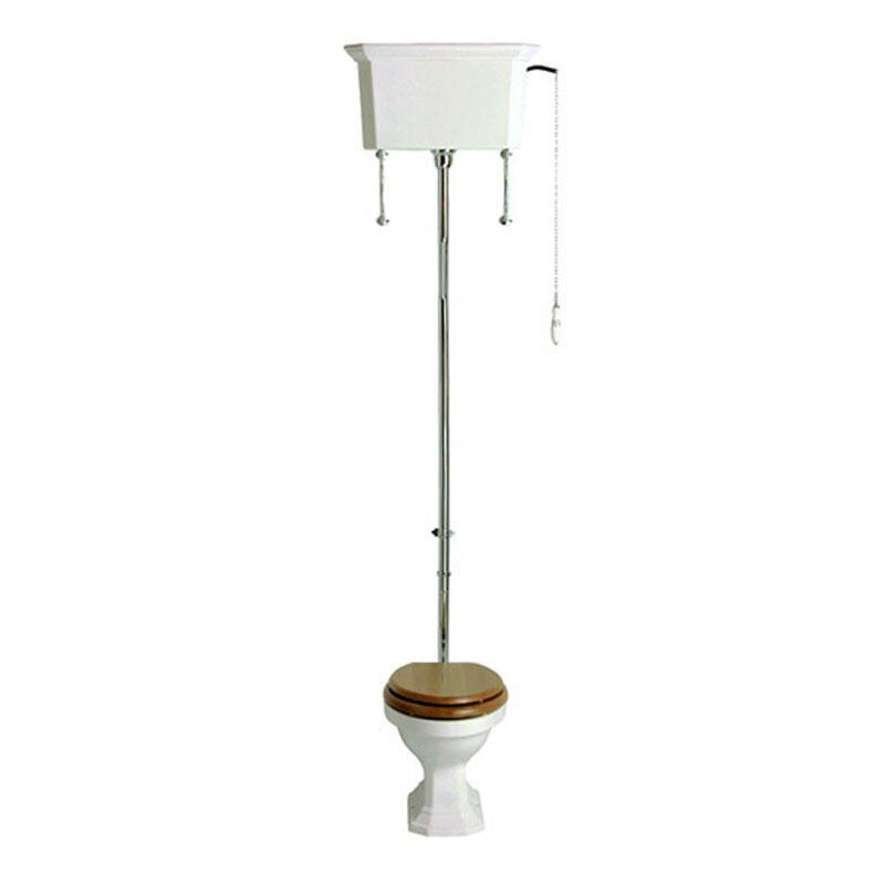Granley White Pan with high level cistern and pack