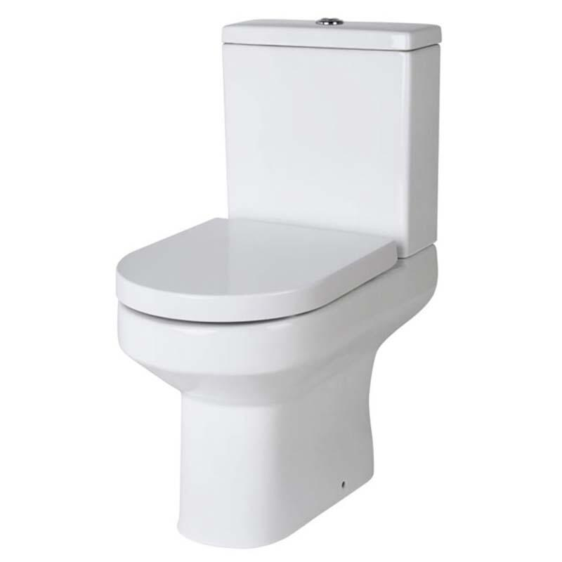 Harmony Semi Flush to Wall toilet and D sahpe soft close seat