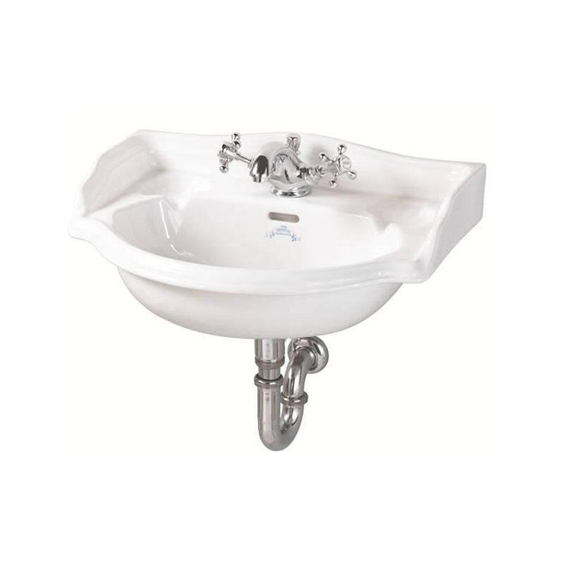 Oxford Wall Hung Cloakroom Basin Two Tap Holes