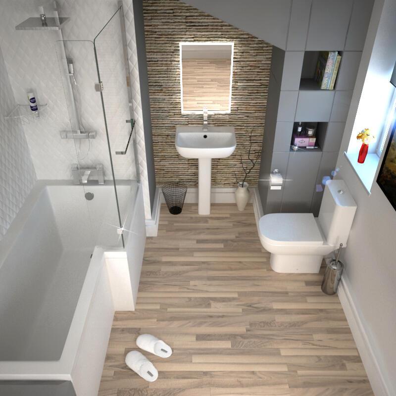 L SHAPE BATH LH full suite