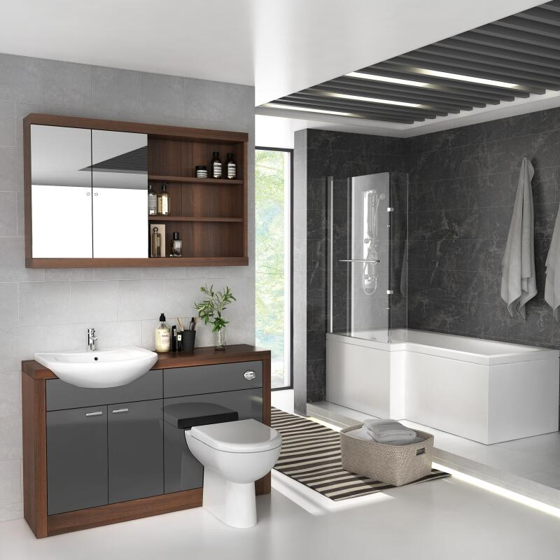 Lucido L Shape Furniture Suite Grey Left Hand
