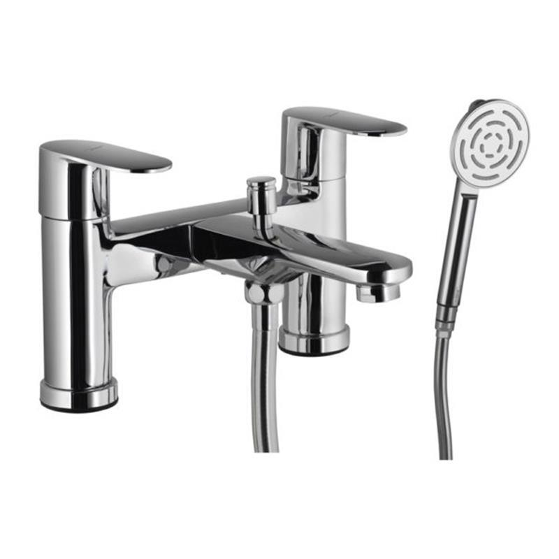 Lyric 2 Hole H Type Bath and Shower Mixer with Shower Kit (1653, 571 & 555)