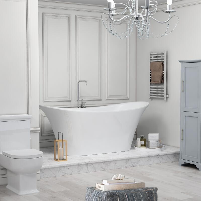 BOW 1800 X 800 BATH WHITE SURROUND