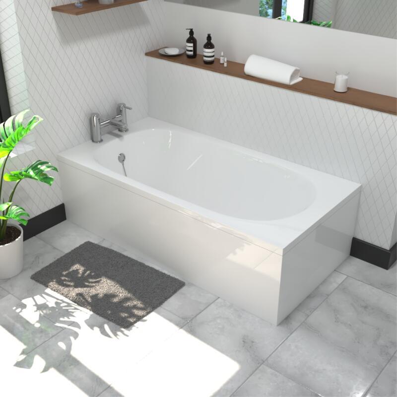 Petite 1300x700mm Straight Acrylic Bath