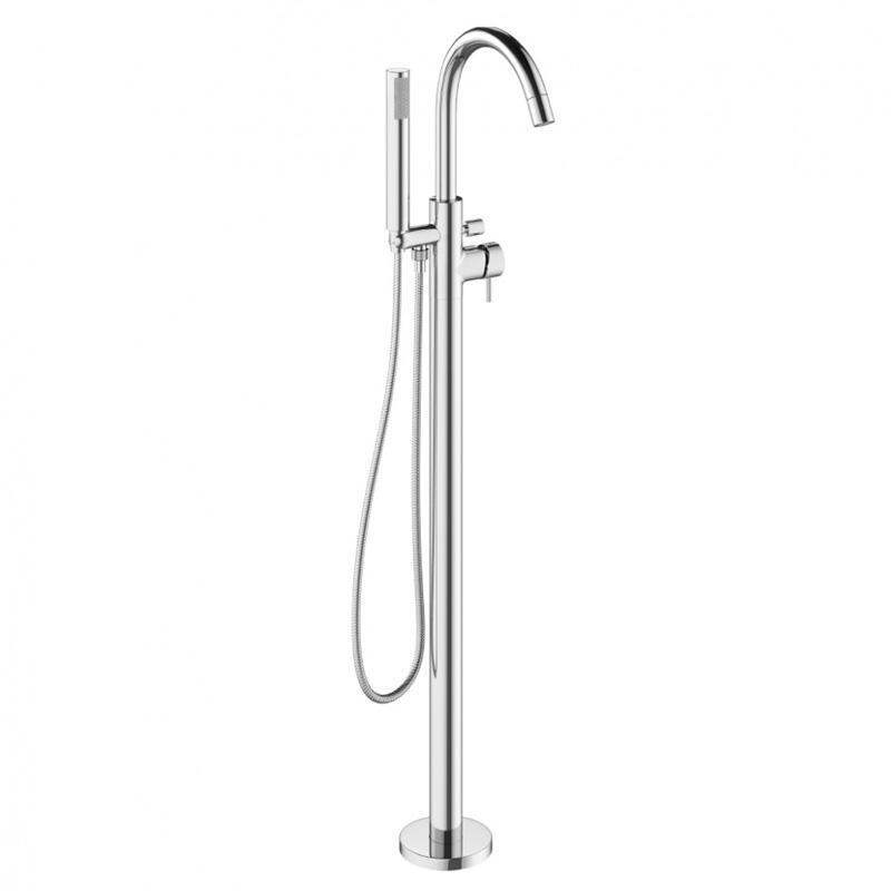 MIKE PRO Bath Shower Mixer Floor Standing Chrome