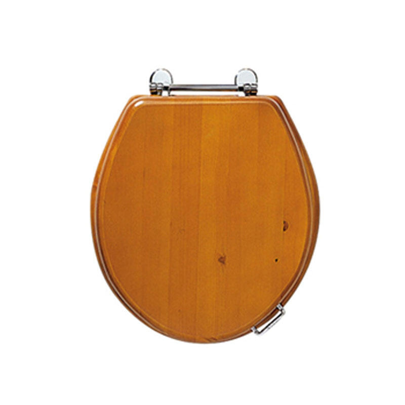 Oval toilet seat with standard Chrome hinges wenge (Wenge)