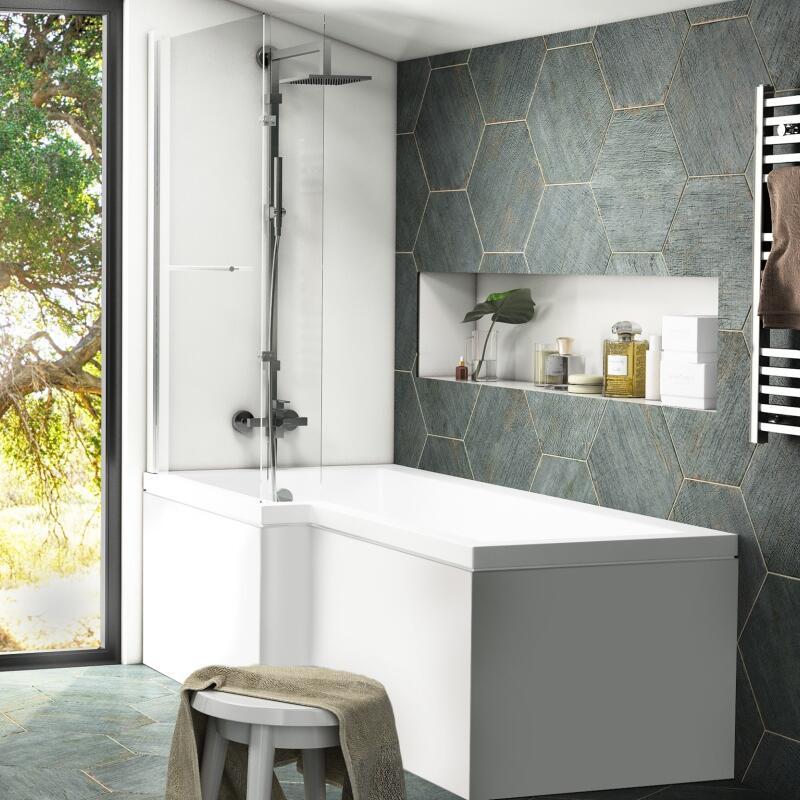 Patello white Shower Bath LH