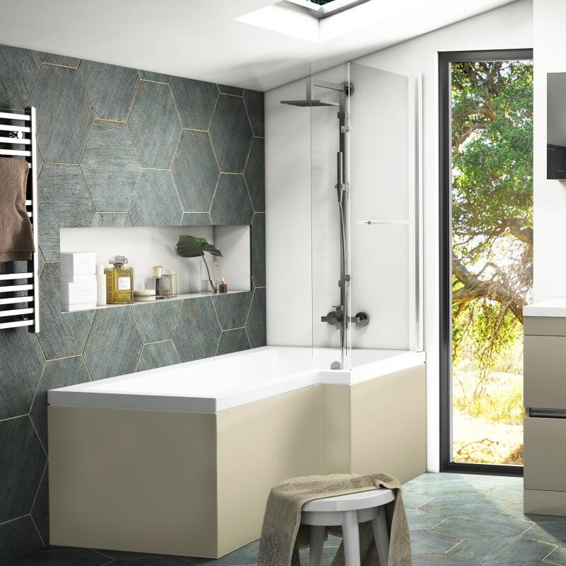 Pemberton Shower Bath with Front Panel and Screen