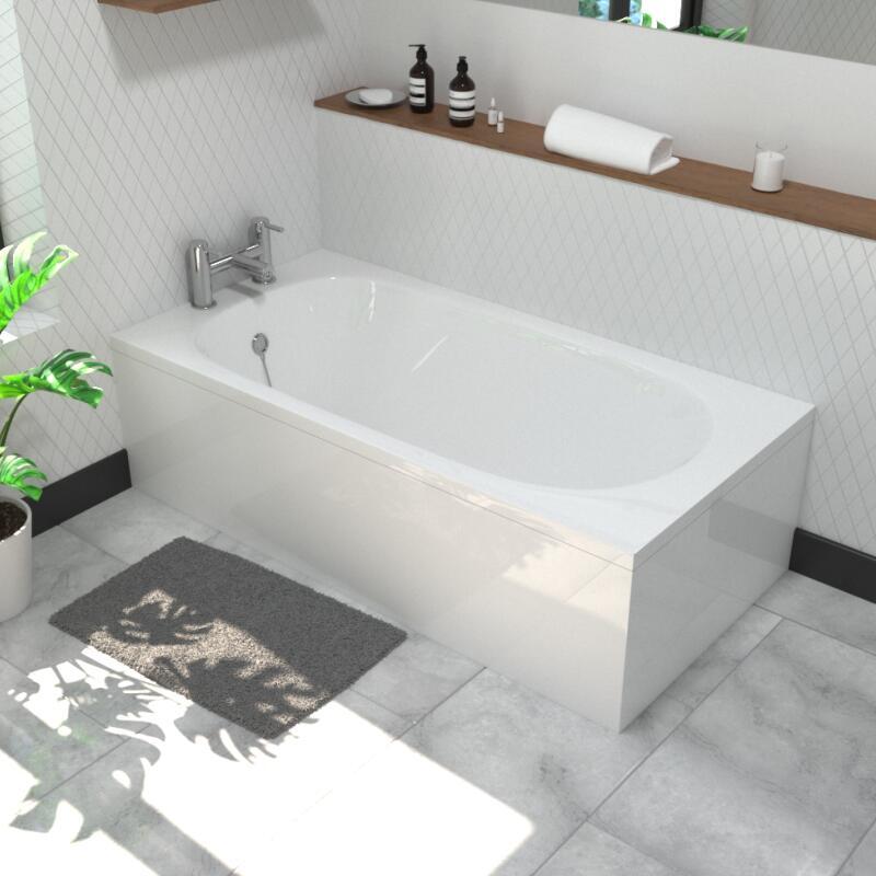 Petite 1400x700mm Straight Acrylic Bath