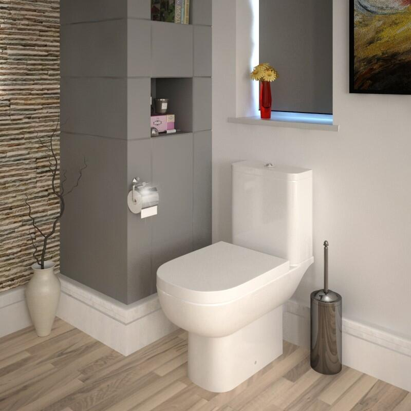 Close Coupled Toilet with Soft Close Seat