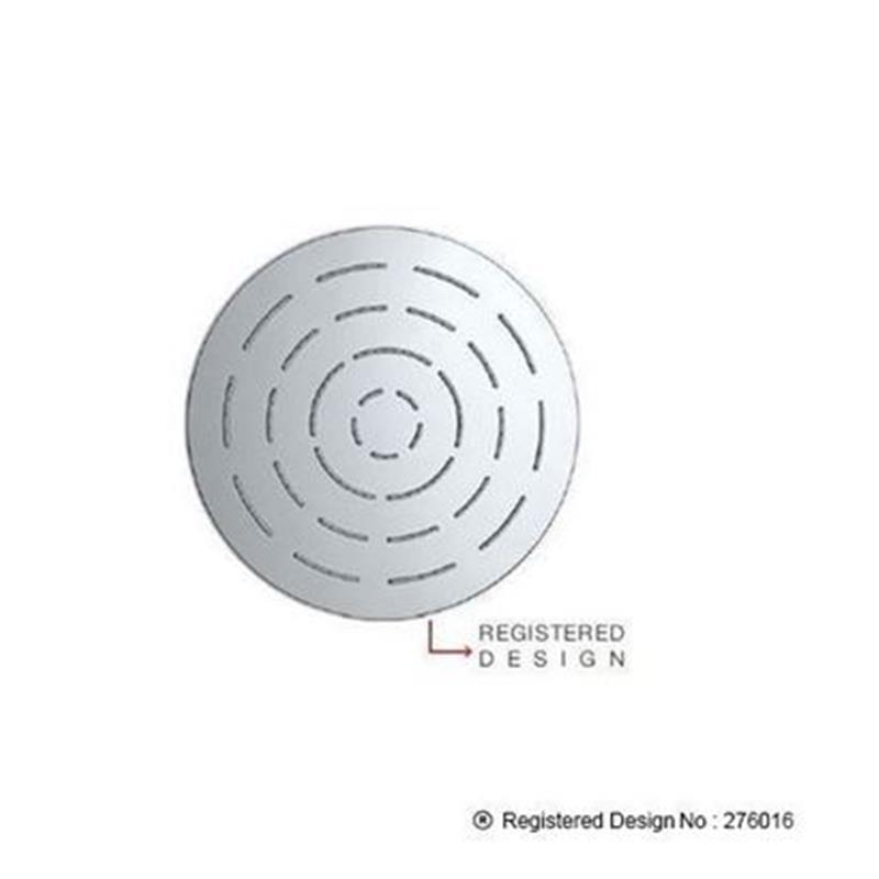 Single Function 200mm dia Round Shape Maze Overhead Shower, Stainless Steel, MP 0.5