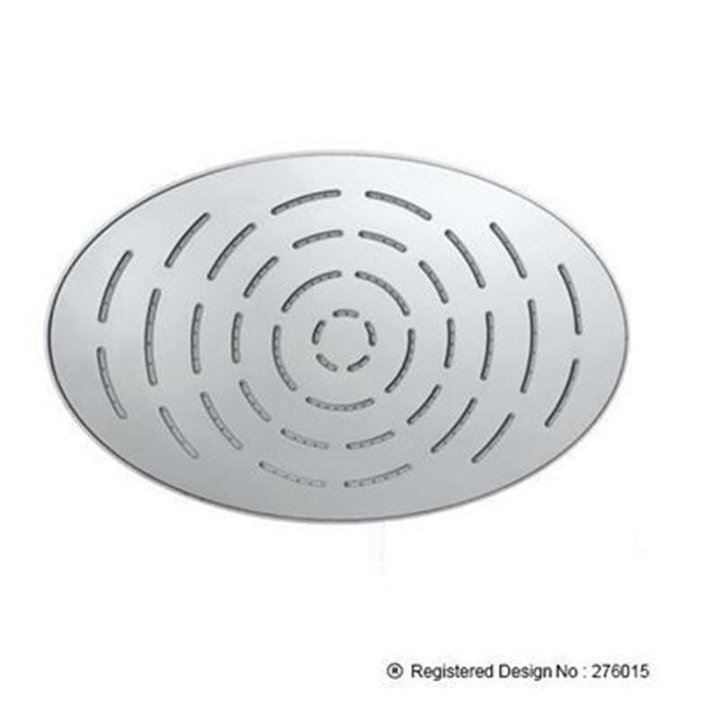 Single Function 340X220mm Oval Shape Maze Overhead Shower, Stainless Steel, MP 0.5