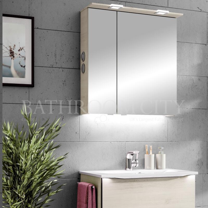 Mirror Cabinet: Left Hand Hinges, 650mm Width