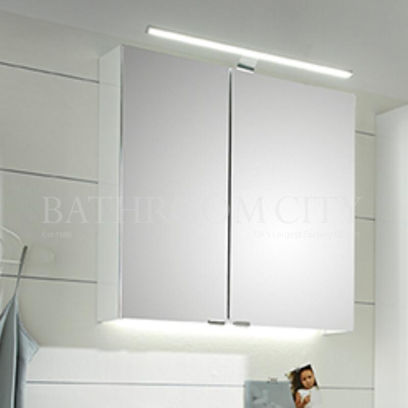 Mirror Cabinet: Left Hand Hinges, 2 Doors, 650mm Width