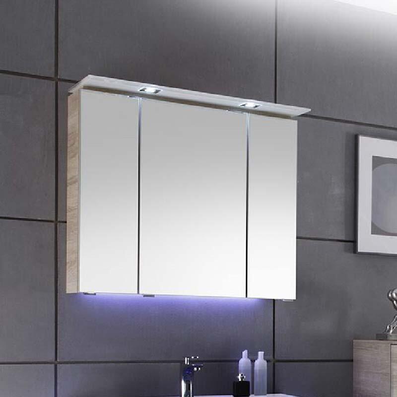 Mirror Cabinet: 3 Doors, 800mm Width