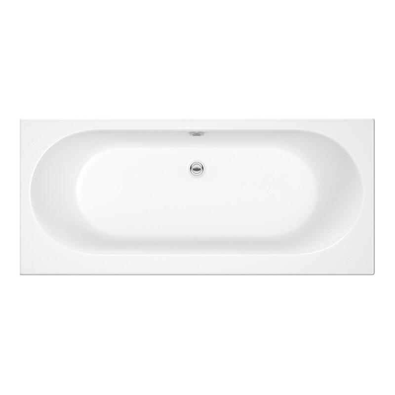 (IN STOCK) Trojan Cascade 1800 x 800 Double Ended Bath White