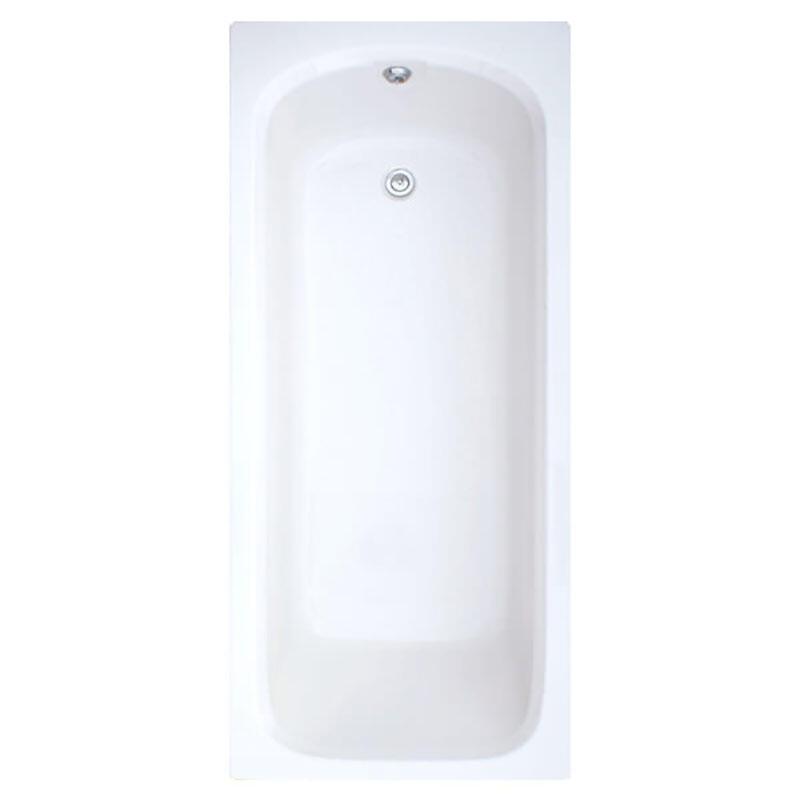 Trojan Derwent 1200mm x 700mm Plain Bath White 5mm