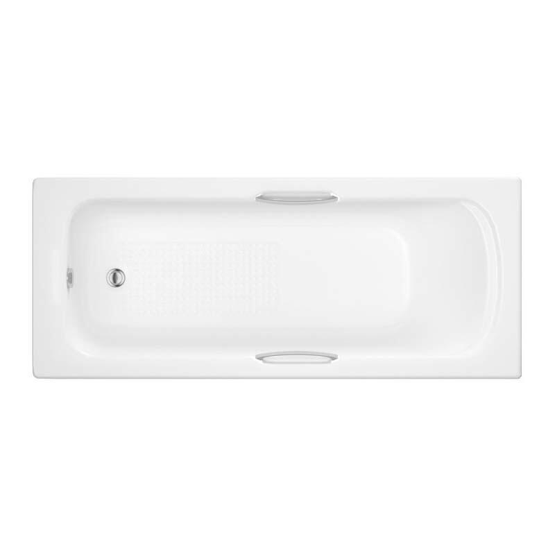 Trojan Granada 2 1675mm 5mm Twin Grip Bath White 2TH