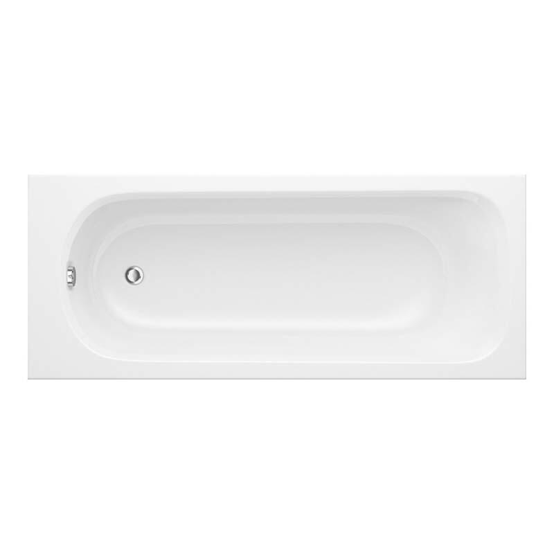 Trojancast Derwent 1400 x 700 Bath White ENCAP Base Board