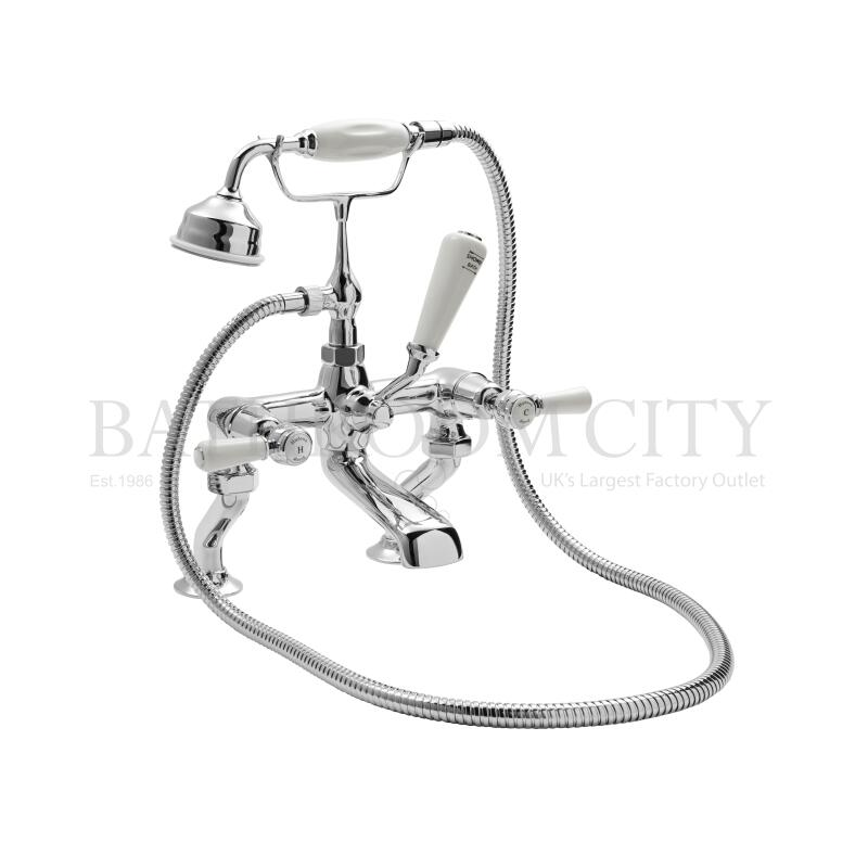 White Topaz with lever Wall Mounted Bath Shower Mixer