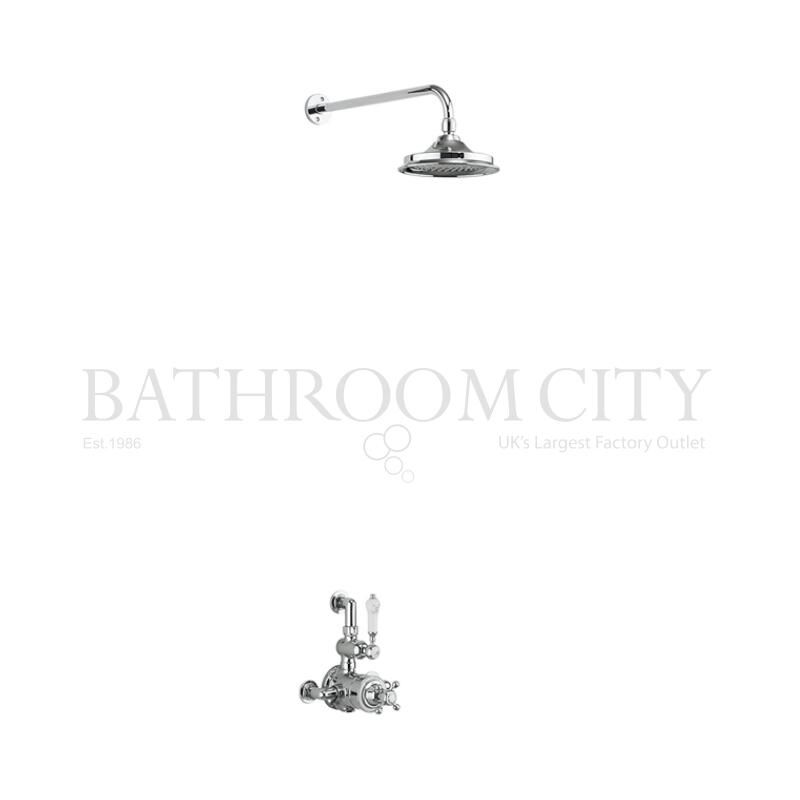 Avon Thermostatic Exposed Shower Valve Single Outlet with Fixed Shower Arm (6 shower head)