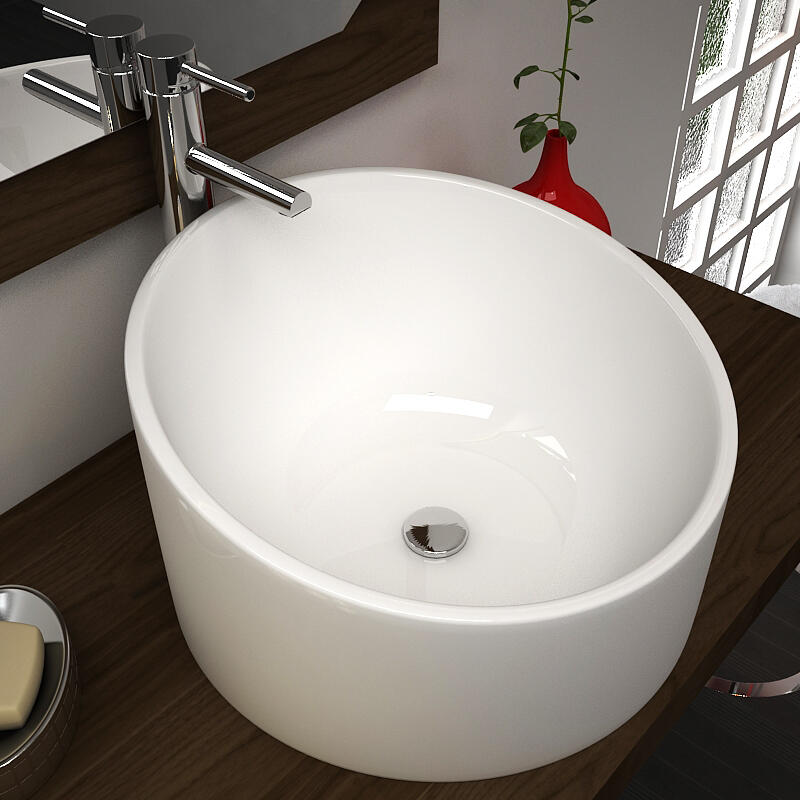 Avalon Surface Top White Round Basin
