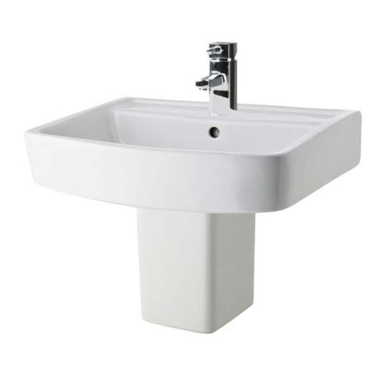 Bliss 520mm bathroom ceramic  wash Basin and semi pedastal
