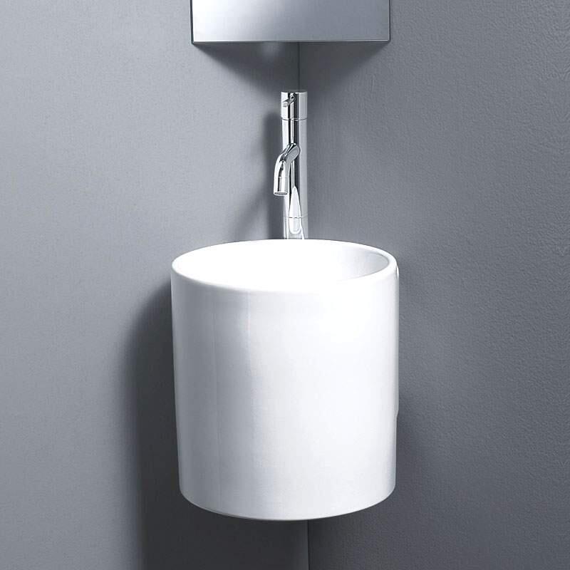 Celin Corner White Ceramic Basin [L315]