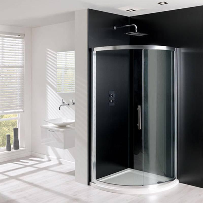 PVC widepanel 1000 x 2400mm Black marble Gloss