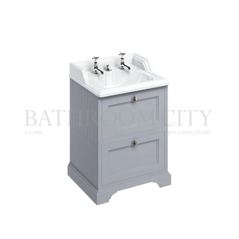 Freestanding 65 Vanity Unit with 2 drawers - Grey