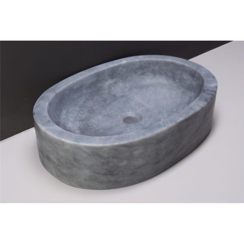 Firenze Natural Stone Basin - Cloudy Marble