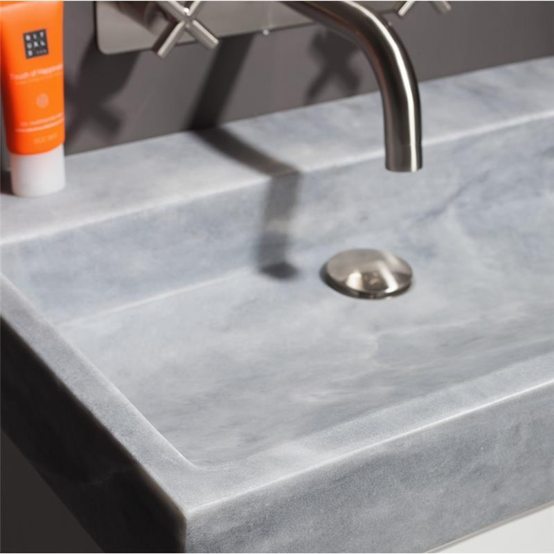 Palermo 100 Natural Stone Basin - Cloudy Marble No Tap Hole